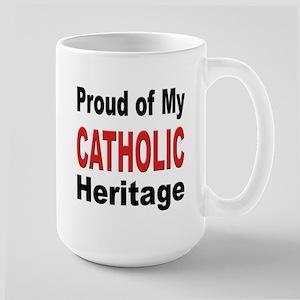 Proud Catholic Heritage Large Mug