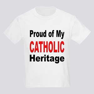 Proud Catholic Heritage (Front) Kids T-Shirt