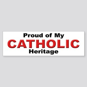 Proud Catholic Heritage Bumper Sticker