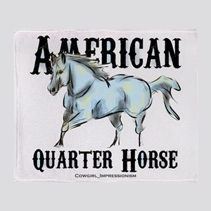 American Quarter Horse Throw Blanket