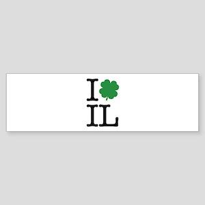 I Shamrock IL Sticker (Bumper)