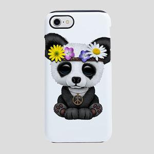 Cute Baby Panda Hippie iPhone 7 Tough Case