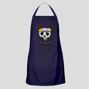 Cute Baby Panda Hippie Apron (dark)