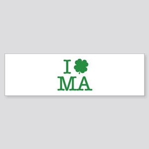 I Shamrock MA Sticker (Bumper)