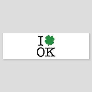I Shamrock OK Sticker (Bumper)
