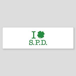 I Shamrock S.P.D. Sticker (Bumper)