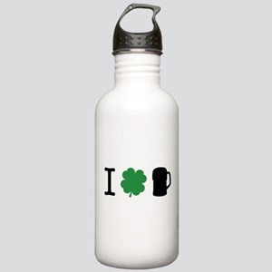 I Shamrock Beer Stainless Water Bottle 1.0L