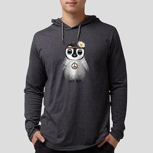 Cute Baby Penguin Hippie Mens Hooded Shirt