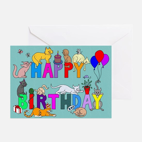 Birthday Cats Cards (Pk of 10)