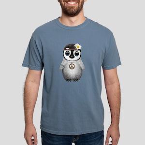 Cute Baby Penguin Hippie Mens Comfort Colors Shirt