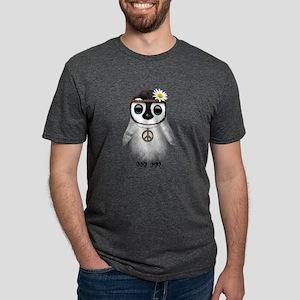 Cute Baby Penguin Hippie Mens Tri-blend T-Shirt