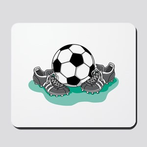 Soccer Ball and Cleats Mousepad
