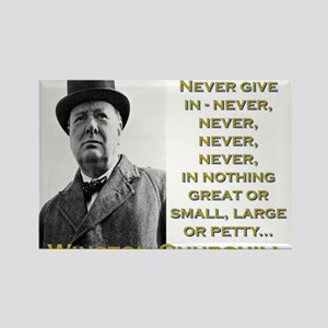 Never Give In - Churchill Magnets