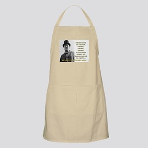 Never Give In - Churchill Light Apron