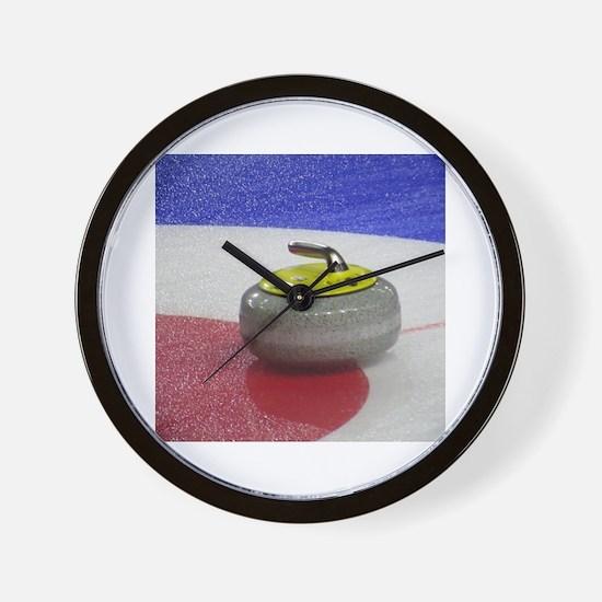 Unique Curling house Wall Clock