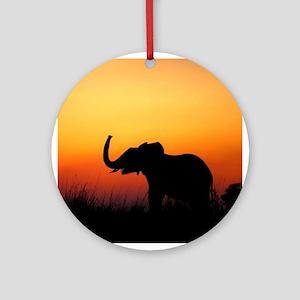 Elephant at Sunset Ornament (Round)