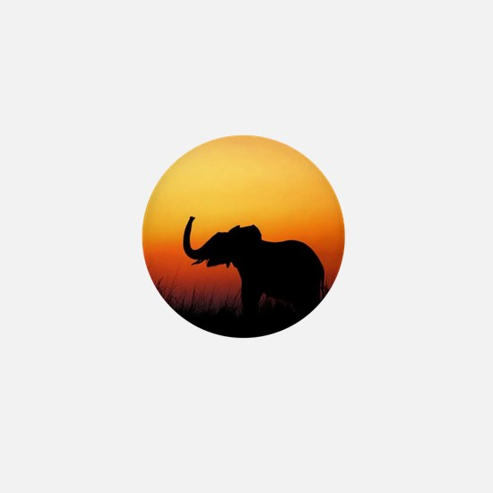Elephant at Sunset Mini Button (100 pack)