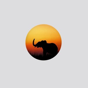 Elephant at Sunset Mini Button