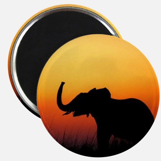 "Elephant at Sunset 2.25"" Magnet (10 pack)"