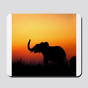 Elephant at Sunset Mousepad