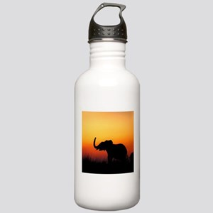 Elephant at Sunset Water Bottle