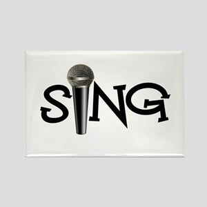 Sing with Microphone Rectangle Magnet