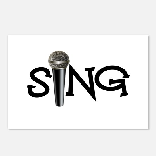 Sing with Microphone Postcards (Package of 8)