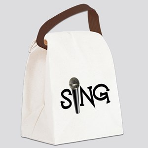 Sing with Microphone Canvas Lunch Bag