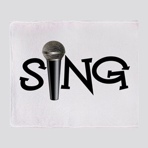 Sing with Microphone Throw Blanket