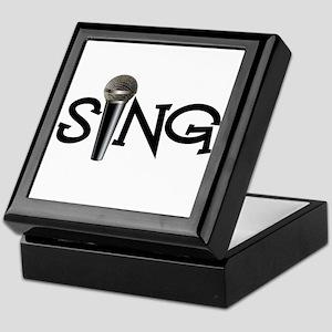 Sing with Microphone Keepsake Box