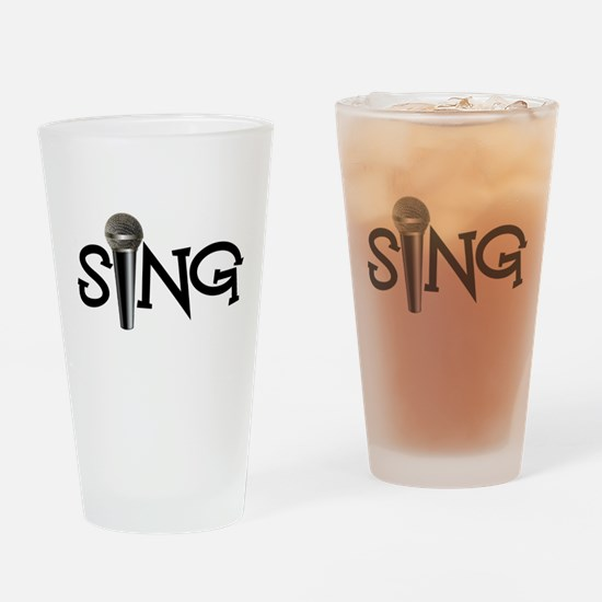 Sing with Microphone Drinking Glass