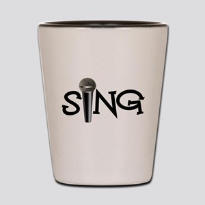 Sing with Microphone Shot Glass