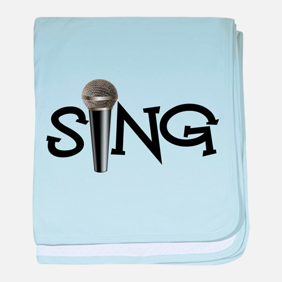 Sing with Microphone baby blanket