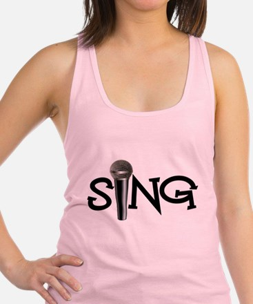 Sing with Microphone Racerback Tank Top