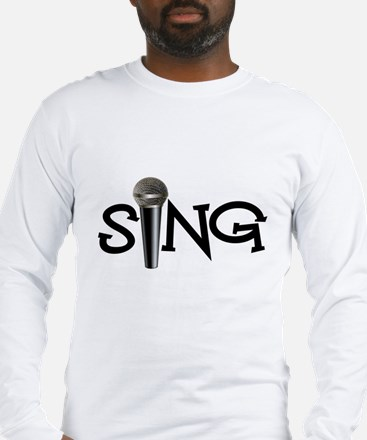 Sing with Microphone Long Sleeve T-Shirt