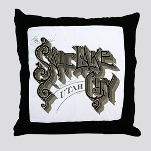 SLC Utah Throw Pillow