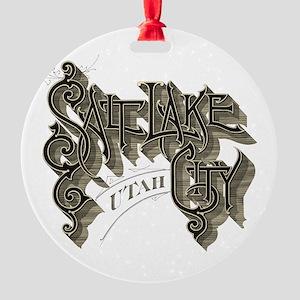 SLC Utah Round Ornament