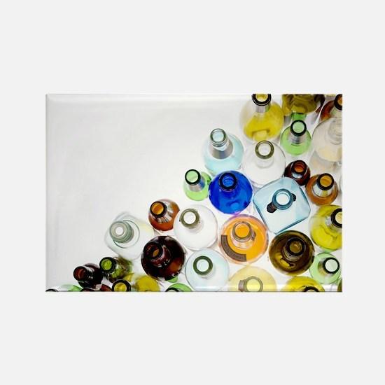 Empty glass bottles - Rectangle Magnet (10 pk)