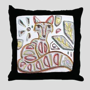 FANCY THE FOX Throw Pillow