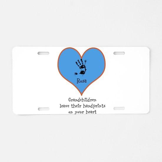 handprints on your heart - 1 grandchild Aluminum L