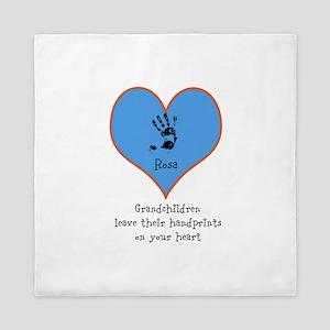 handprints on your heart - 1 grandchild Queen Duve