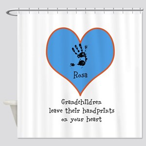 handprints on your heart - 1 grandchild Shower Cur