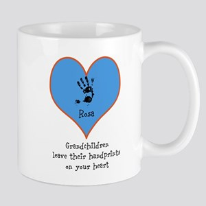 handprints on your heart - 1 grandchild Mug