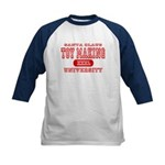 Santa Toy Making University Kids Baseball Jersey
