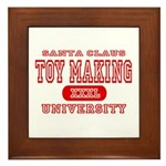 Santa Toy Making University Framed Tile
