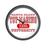 Santa Toy Making University Wall Clock