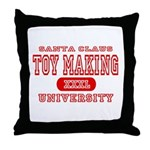 Santa Toy Making University Throw Pillow