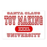 Santa Toy Making University Postcards (Package of