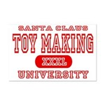 Santa Toy Making University Mini Poster Print