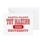 Santa Toy Making University Greeting Cards (Packag